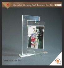 2015 new style stairs display rack acrylic menu holder