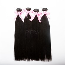 Seda de alto grado color negro natural recto bundles virgen niña pelo barato del pelo brasileño vendedores
