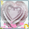High quality red / white / pink heart lace paper doilies placemats for hotel supplies