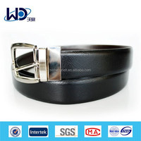 Solid Black 2014 Men Simple Style Business Leather Belt