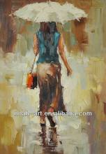 Impressionist Woman Portrait Art Painting