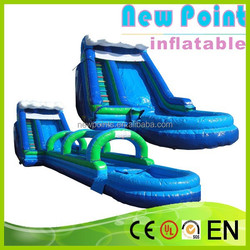 New Point inflatable water slides for summer,cheapest single way inflatable slide,inflatable water slides