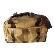 Stylish good quality canvas mens travel bag