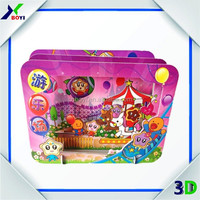 plastic portable jigsaw puzzle customized good quality puzzle, new pp material