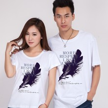 Printing picture custom t shirt for lovers' fashion style