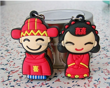 Wholesale bride Pen Drives China bride and groom usb flash drive 1gb 2gb 4gb 8gb16gb Hot gift free shipping