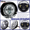 "For Harley 7"" Round LED H4 Projector Headlight Motorcycle Headlights"