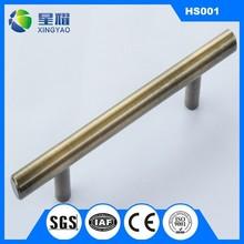 stainless steel solid T bar furniture cabinet door handle