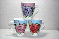 2016 ceramic church coffee cup with charming flower