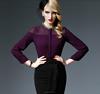 3-The Most Fashionable Office Lady Blouse Uniform,Flounced chiffon shirt summer wear fashion commute, for wholesale