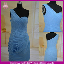 SW135 sheath sweetheart one shoulder cheap ice blue short homecoming dress