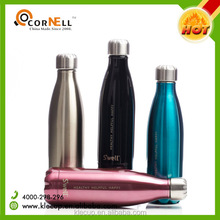 Wholesale customized color promotional double wall BPA free cheap stainless steel water bottles with logo