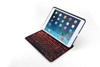 Folio keyboard case for iPad Mini1/2/3 with aluminum bottom PU leather Bluetooth keyboard case