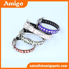 2015 best selling dog products high quality big crystal luxury pet dog collar