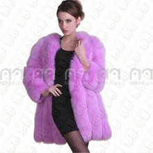 Russian style women winter fashion fur coats jackets real fox fur coat