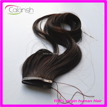 Hot new arrival flip in synthetic fish line hair weaves extensions for women