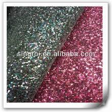 Pu glitter fabric material