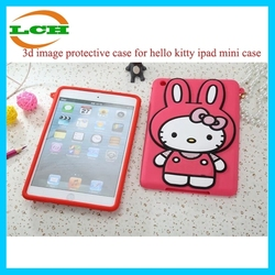 New arrival 3d image protective case for hello kitty ipad mini case