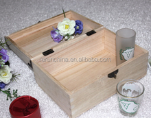 alibaba wholesale Dark color small unfinished wooden boxes
