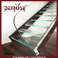 simple stainless steel glass staircase with SAI passed