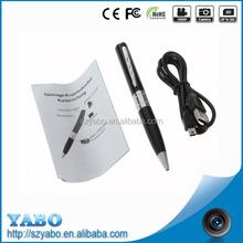 low factory price very very small hidden camera, hidden video digital TF card pen camera