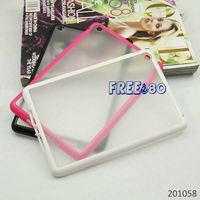 tpu bumper + matte pc backside case for Apple iPad Mini