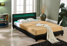 Promotion King Size Multi Color LED Faux Leather PU soft Hotel Bed WSB864-1