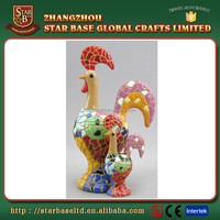 Best quality animal resin low price small chicken sculpture for promotion