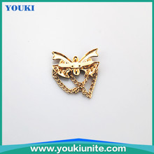 butterfly design buckle shoes
