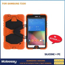 Dustproof drop proof tablet case for Samsung t330