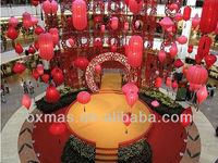 2013 New year hotel /mall festival program indoor lantern decoration