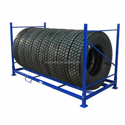 Tire rack storage system /mobile metal stacking tire rack