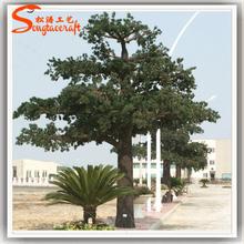Agujas de pino directa de fábrica de fibra de vidrio de árboles de navidad en maceta árbol paisaje pino ramas de los árboles de