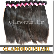 Hot sale Top quality natural black straight hair unprocessed russian hair double drawn