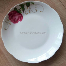 wholesale ceramic fruit plate,porcelain deep plate custom design