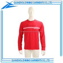 100% Cotton Cheap Men Long Sleeve Collar T-shirt with Custom Printing