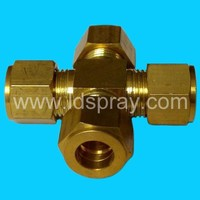 brass 9.52mm four way connector