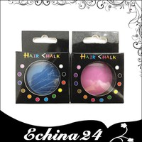 12 Color Mixed Hair Chalk Box Style Temporary Hair Color Dye Pastel Chalk Bug Rub Hair Color Chalk