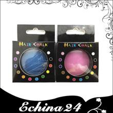 12 colores mezclados de la tiza del pelo estilo de la caja temporal del pelo del tinte del Color en colores Pastel del insecto de la tiza Rub Color de pelo tiza
