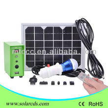 New updated 5W nimi solar home kit with 1pcs 3W led bulb and phone charging function