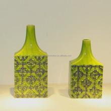 Glazed large Chinese flower vase home decor murano vase