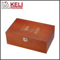 Made in china custom logo and color locked wooden wine box for liquor