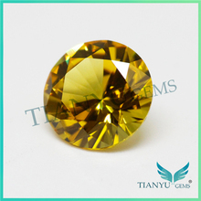 Free Sample 7mm Round Synthetic Corundum Color #21 Yellow sapphire cost