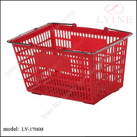 cheap plastic basket with handle on sale