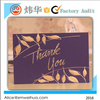 customize hot stamping greeting card for thanksgiving day