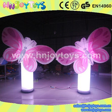 luminous butterfly design inflatable column event party light decor