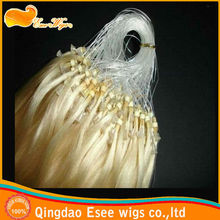 Factory wholesale AAAAA 100% virgin human hairbeautiful micro loop virgin hair extension 6-32inch