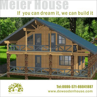 luxury prefab house building prefabricated wooden house villaDYV003