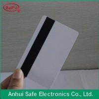 Custom design matt finish 2015 new plastic card with hico magnetic stripe on pvc business card back side