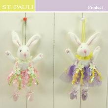 lovely screen cloth felt easter decoration handmade bunny decor